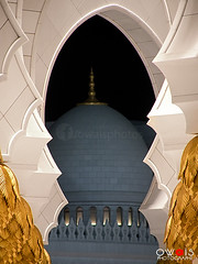 Sheikh Zayed Grand Mosque - UAE (OwaisPhotography (www.facebook.com/owaisphotos)) Tags: white religious gold nikon muslim religion uae grand mosque structure cover zayed abudhabi coolpix sheikh masjid frontview p80 constructionframe owaisphotography gettyimagespakistanq12012 gettyimagesmiddleeast