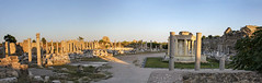 Side - panorama from the ruins outside the theatre 2 (Romeodesign) Tags: sunset sea panorama holiday monument museum architecture turkey temple coast ancient ruins mediterranean riviera theatre roman antique s