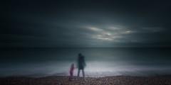 Sandgate (Miranda & Rachel) (richard carter...) Tags: longexposure blue beach clouds overcast sandgate 1635 eos5dmk2