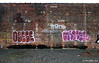 (Into Space!) Tags: city nyc newyorkcity pink red urban graffiti photo goa camel graff bomb bombing throw obese fill yorker cmb fillin throwie ync intospace intospaces obesecamelyorkyorker