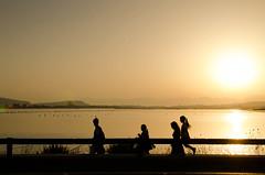 Promenade (Isabella Pirastu) Tags: sardegna sunset sea beach sardinia cagliari