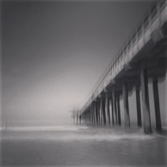 Portal (Minghua Nie) Tags: bw pier timetravel icm iphone revisited intentionalcameramovement img7900