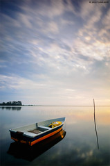 """""""Off Duty"""" (tuan azizi) Tags: blue sunset sky cloud seascape nature yellow sunrise boat twilight fisherman alone outdoor filter lee single lonely scape job gettyimages offduty tuanaziziphotography"""