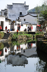 Village  (Mel@photo break) Tags: life china roof reflection heritage water architecture rural river countryside canal village country mel melinda  wuyuan jiangxi    chanmelmel  melindachan