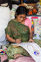 IMG_5236 (snish) Tags: old people india art lady canon painting artist craft hyderabad artisan craftsmen canonef50mmf18ii madhubani shilparamam 60d