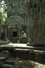 Ta Prom Sweeper 1 (marcwiz2012) Tags: people work temple ancient ruins asia cambodia khmer angkorwat scan local angkor taprohm localpeople historicsite