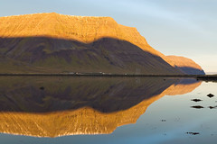 Solid Rock (Danil) Tags: ocean morning mountain snow reflection ice water rock sunrise landscape iceland farm daniel tide wideangle lonely desolate landschap westfjords isafjordur d600 bosma ijsland
