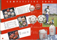 Liverpool Merchandise Catalogue 1993/94 Page 8 (The Sky Strikers) Tags: game get liverpool balls neil merchandise catalogue skill ruddock in