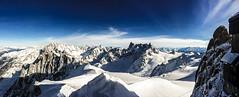 Aiguille du Midi (Ben D Dean) Tags: panorama snow ski france mountains cold snowboard chamonix montblanc newyearsday aiguilledumidi valléeblanche rhonealpes iphone5s