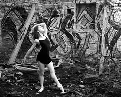 (sonialarbiaissa) Tags: street city urban ballet graffiti ballerina vine kansas pointe exploration kcmo workhouse