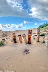 staccionata (danguc) Tags: wood sea sky italy beach clouds sand italia nuvole mare dunes dune cielo sicily spiaggia hdr sicilia legno sabbia fujixa1
