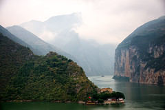 Qutang Gorge of The Three Gorges on the Yangtze River, China (CamelKW) Tags: china yangtzeriver qutanggorge baidicity whiteemperorcity thethreegorges fenjiecounty