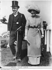 Couple at the Ontario Jockey Club (Toronto History) Tags: toronto ontario canada hats couples valentinesday williamjames torontoarchives ontariojockeyclub