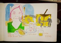 La Caña D`España (ALVARO CARNICERO) Tags: bar drawing cordoba dibujo urbansketchers lacañadeespaña dibujobar