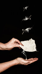Get the message! (Eldkvast) Tags: fire hands candle message smoke signals meddelande fotosondag fs140209