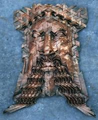 aelfred 1 (origami joel) Tags: face paper origami mask joel cooper tessellation origamijoel