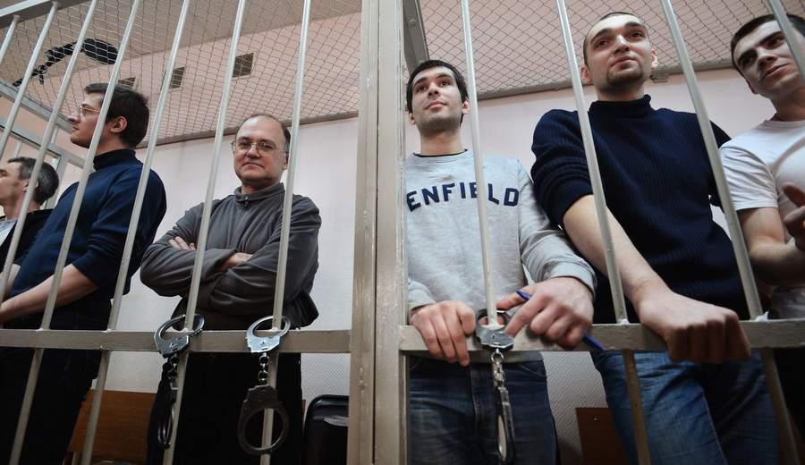 Подсудимые в Замоскворецком райсуде. Фото: Рамиль Ситдиков, РИА «Новости»