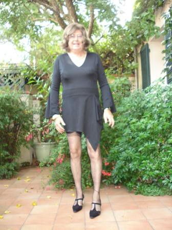 Assymetric  black dress
