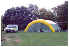Scottish Ambulance Service, Emergency Support Unit on Display at the former National Headquarters in 1993 (stretcherfetcher) Tags: november scotland edinburgh 4x4 display visit tent ambulance 1993 medical vehicles nhs vehicle shelter paramedic emt frontline iveco publicsafety treatment preparedness triage emergencyservices fieldhospital emergencypreparedness emergencymedicine accidentandemergency freightrover frv ambulancepersonnel ambulanceservice medicalcare nationalheadquarters nhsscotland scottishambulanceservice majoremergency treatmentcentre patientcare paramedicine ambulancestaff paramedicunit emergencyambulance prehospitalcare nhsambulance casualtyclearing masscasualties tipperlinnroad emergencyduties ambulanceservicenhstrust majorincidentplanning ivecoturbodaily4010 stretcherfetcher specialhealthboard 4010w