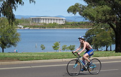 Pedal Power Amys Big Canberra Bike Ride on Parkes Way (spelio) Tags: bike cyclists big power ride amy australia canberra amys past act pedal carillon riders gillett bcbr