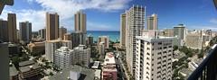 Waikiki (annrmz) Tags: ocean blue sea water buildings hawaii hotel waikiki oahu tall honolulu uploaded:by=flickrmobile flickriosapp:filter=nofilter