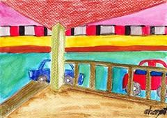 ภาพวาด วิว มรภ.สวนสุนันทา โดย   เฌอปัฐน์ วิจิตรสุนทรกุล