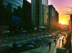 Cheonggyecheon Umbrellas (travel oriented) Tags: korea seoul umbrellas    cheonggyecheon  junggu  wwfearthhour umbrellainstallation  wwf cheonggyecheon