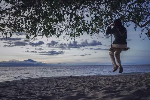 Swing by the ocean