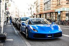 Blu Corsa. (FB CS) Tags: ferrari 488 gtb spider italia scuderia speciale blue blu pozzi corsa carspotting supercar v8 turbo biturbo cabriolet cabrio convertible cologne köln