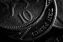 10 (Matthew Johnson1) Tags: 10 macromonday happy10years money coins 10pence tenpence hmm monday macro birthday dof pov celebration