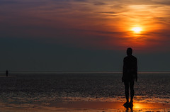 `ANOTHER PLACE` by Antony Gormley (saile69) Tags: antony gormley beach statues crosby sunset reflections