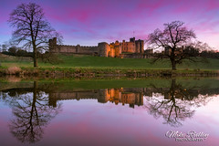 Red dusk ... (Mike Ridley.) Tags: alnwickcastle sunset alnwick riverlan hogwarts harrypotter sonya7r2 sony247028gm leefilters longexposure redsky