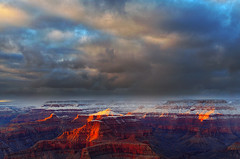 DSC_0099-101 powell point sunset hdr 850 (guine) Tags: grandcanyon grandcanyonnationalpark canyon rocks clouds snow sunset hdr qtpfsgui luminance