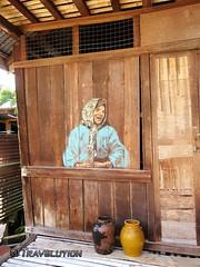 Mural, Annah Rais Village (Travolution360) Tags: malaysia sarawak annah rais murals borneo tribal longhouse culture village