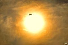 Hot flight II (Otacílio Rodrigues) Tags: sol sun nuvens clouds céu sky avião plane contraluz againstthelight brilho bright amarelo yellow tecoteco smallplane resende brasil oro voo flight supershot topf25