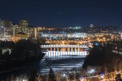 Peace Bridge at Night (PhotoGizmo) Tags: peacebridge bowriver calgary yyc night exposureyyc