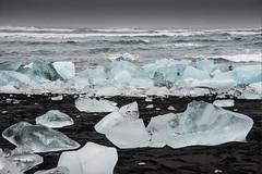 Islande, plage, 6 (Patrick.Raymond (3M views)) Tags: islande littoral plage mer hiver gel glace hdr nikon