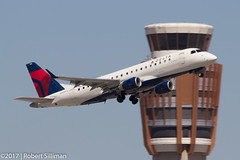 Delta Connection Embraer ERJ-175 N626CZ (rob-the-org) Tags: exif:aperture=ƒ13 camera:make=canon exif:isospeed=100 camera:model=canoneos60d exif:focallength=400mm exif:model=canoneos60d geolocation exif:lens=ef100400mmf4556lisiiusm exif:make=canon kphx phx skyharborinternational phoenixaz deltaconnection embraer erj175 n626cz departure towercross gearinmotion f13 400mm 1200sec iso100 cropped noflash