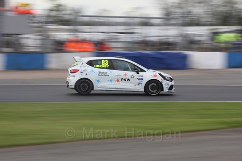 Kyle Hornby in Renault Clio Cup Race Three at the British Touring Car Championship 2017 at Donington Park