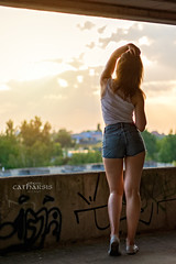 DSC_4711a (Catharsis_Face2Face) Tags: polishgirl polishbeauty photosession session girl polish model polishmodel photomodel outdoorsession abadoned sunset summersunset wroclaw streetwear streetstyle shorts jeansshorts whitetop longhair hairstyle makeup teenagergirl fashion naturalbeauty nikon nikonphotography d5300 grafiti urbanstyle