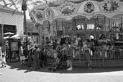 MallCarousel (ArielImages) Tags: sonya7r2 1635mm irvine irvinespectrum carousel bw merrygoround mallphotography
