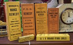 antique Medicine  - Roberts Antiques Hampton Virginia Phoebus (watts_photos) Tags: antique medicine roberts antiques hampton virginia phoebus iso 5000 bookers remedy patent pill box boxes old