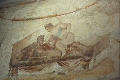 0012 Lupanar,Fresco above cubicle, Vicolo del Lupanare, Pompeii (2) (tobeytravels) Tags: pompeii lupanar brothel fresco