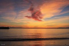 Sometimes, the  clouds want to fly like an eagle ... (lesxanes) Tags: cielo sky clouds nubes sunrise amanecer seascape marina playa beach sand arena luz light asturias asturies españa spain