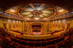 Copley Symphony Hall (wengeshi) Tags: interior symphonyhall building san diego downtown historic architecture fisheye tour music performance