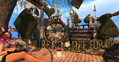 late (elliedonut Resident) Tags: tea late wonderland secondlife