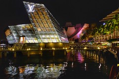Colorfull night view ( Singapore ) (linwujin) Tags: marinabay singapore nightview light sands fujifilm xt1 xf1655 mirror colorfull