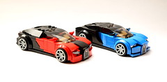 Two cars (RGB900) Tags: lego supercars bugatti veyron