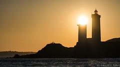 _D819083 : Le phare solaire (Brestitude) Tags: minou phare lighthouse soleil sun coucher couché silhouette jaune finistère plouzané bretagne rade brest brittany breizh ©laurentnevo2017