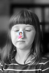 """Das doppelte Lottchen ~ """"Two Times Lotte"""" - Kein 1. April Scherz - No April Fools` Joke (hedbavny) Tags: lotti lottchen dasdoppeltelottchen kästner erichkästner photo foto nose nase gesicht face portrait porträt child kind kid mädchen girl frau woman lachen smile laugh lächeln ball rosa pink sky himmel blue blau aprilscherz fool joke narr aprilfoolsjoke 1april cooperation kooperation collaboration gemeinschaftsarbeit creativity kreativität stuhl chair sessel sessellehne stuhllehne black schwarz white weis wachsen growing alter age altern aging kindheit childhood kleinkind schulkind diary tagebuch hedbavny ingridhedbavny wien vienna austria österreich"""
